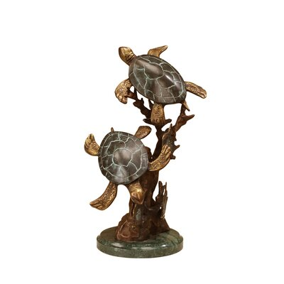 SPI Home Sea Turtle Duet Statue
