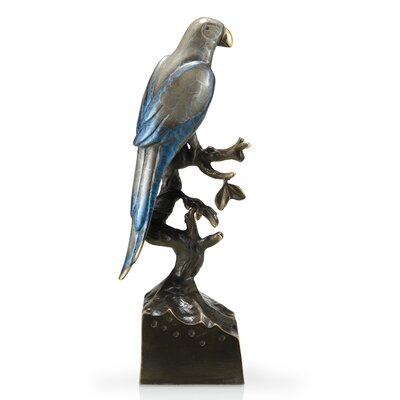 SPI Home Single Parrot on Base Statue