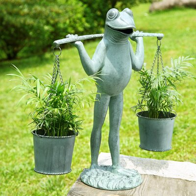 SPI Home Farmer Frog Planter Holder