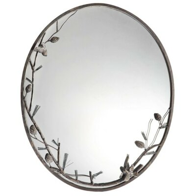 Pinecone and Branch Wall Mirror