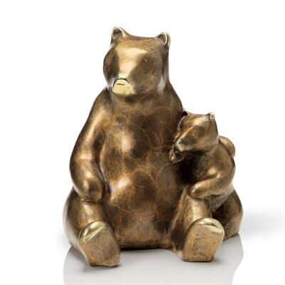 Stylized Bear and Cub Figurine