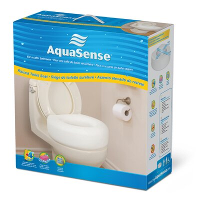 "Aquasense 4"" Portable Raised Toilet Seat"