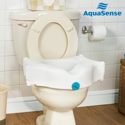 "Aquasense 4"" 3-Way Raised Toilet Seat"