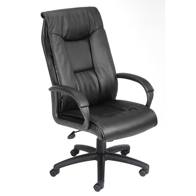 Boss Office Products Pillow Top Design High-Back LeatherPlus Office Chair