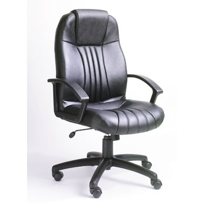 Modern High-Back Leather Executive Chair