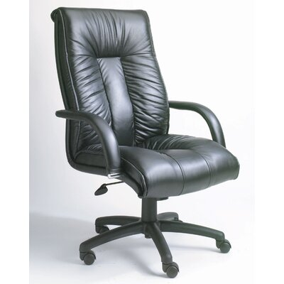 Boss Office Products Contemporary High-Back Italian Leather Office Chair
