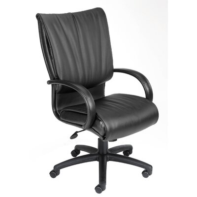 Boss Office Products Modern Mid-Back Leather Plus Executive Chair