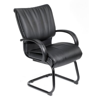 Boss Office Products Leather Guest Chair with Dracon Filled Cushions