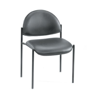 Boss Office Products Contemporary Armless Fabric Stackable Chair