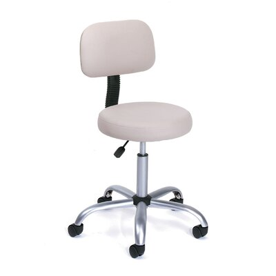 Boss Office Products Height Adjustable Doctor's Stool with Back Cushion