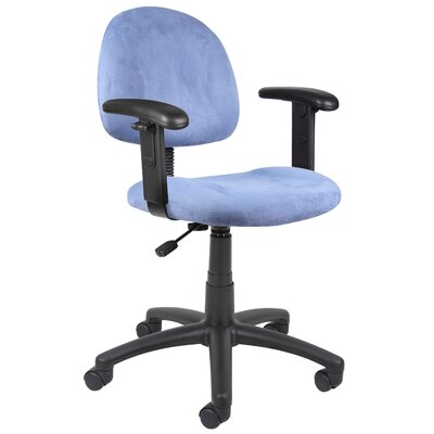Boss Office Products Mid-Back Office Chair with Adjustable Arms