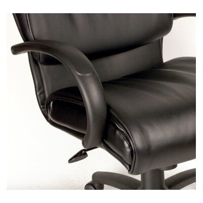 Boss Office Products Modern Mid-Back Leather Executive Chair