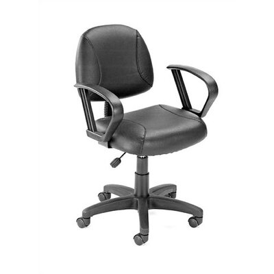 Boss Office Products Adjustable Deluxe Posture Low-Back Office Chair with Loop Arms