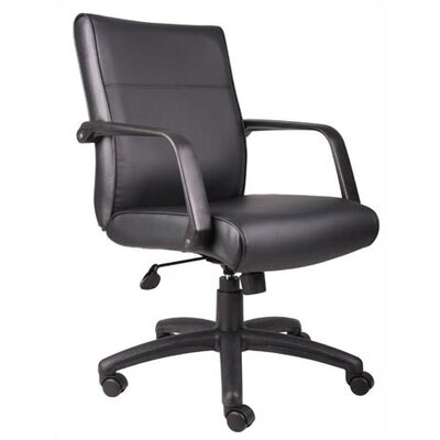 Boss Office Products Mid-Back LeatherPlus Executive Chair