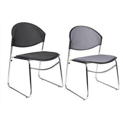 Boss Office Products Chrome Framed Stacking Chair (Set of 4)