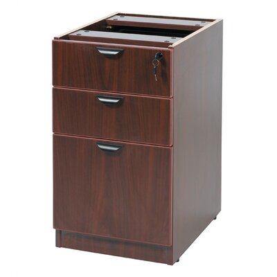 "Boss Office Products Case Goods Deluxe Full 28.5"" H x 16"" W Desk Pedestal"