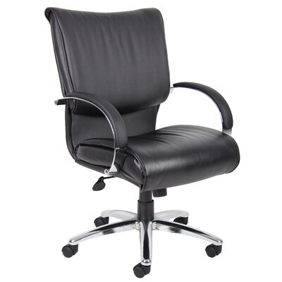 Boss Office Products Mid-Back Leather Plus Executive Chair