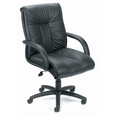 Contemporary Mid-Back Leather Office Chair