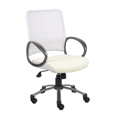 Boss Office Products Mid-Back Mesh Task Chair with Loop Arms