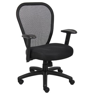 Boss Office Products High-Back Professional Managers Mesh Chair with Arms