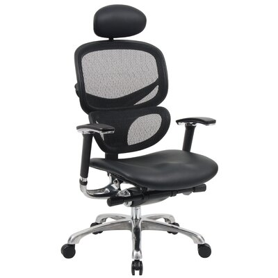 Boss Office Products High-Back Mesh Office Chair with Head Rest and Arms