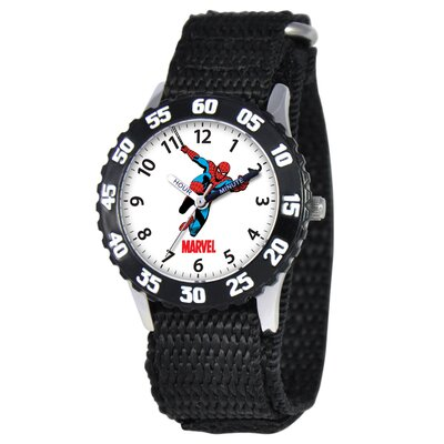 Kid's Spider-Man Time Teacher Watch in Black with Black Bezel