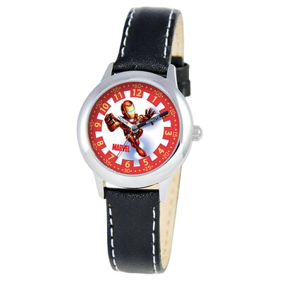 Kid's Iron Man Time Time Teacher Watch in Black