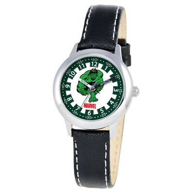 Kid's Hulk Time Teacher Watch in Black