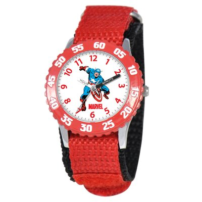 Kid's Captain America Time Teacher Watch in Red