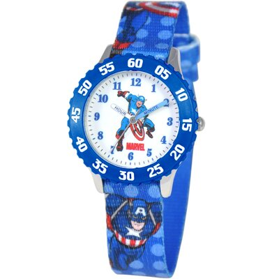 Kid's Captain America Time Teacher Watch in Blue