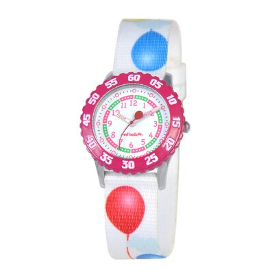 Red Balloon Kid's Stainless Steel Time Teacher Watch in White