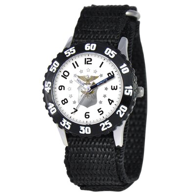 Kid's Military Air Force Time Teacher Watch in Black