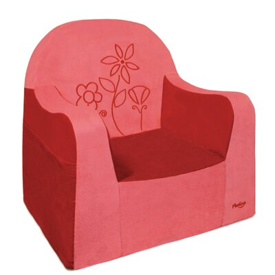 Playful Embroidery Flower Kids Club Chair