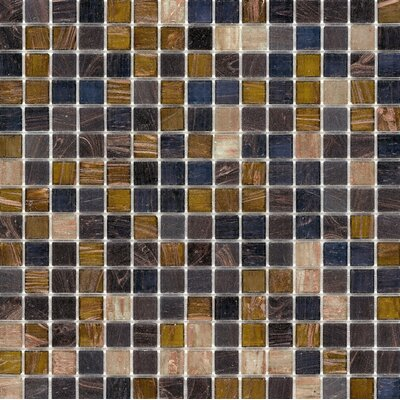 "Surfaces Elida Glass 13"" x 13"" Mosaic in Multi Gem"