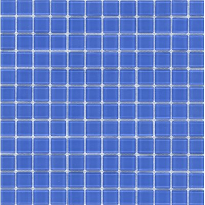 "Surfaces Elida Glass 12"" x 12"" Mosaic in Indigo Blue"