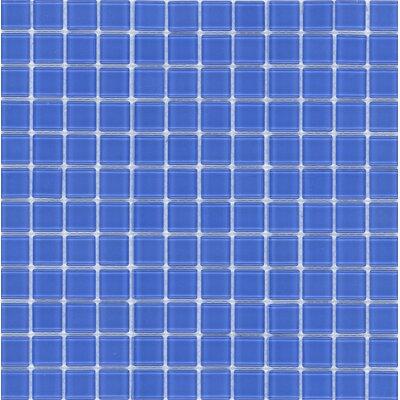 Surfaces Elida Glass Mosaic in Indigo Blue