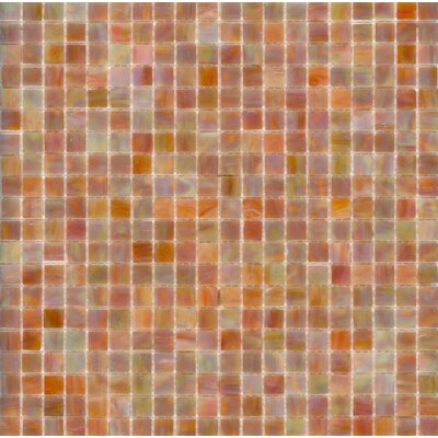 "Surfaces Elida Glass 13"" x 13"" Mosaic in Coral Reef"