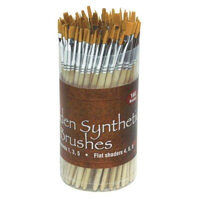 Alvin and Co. Synthetic Brush Assortment (Set of 144)