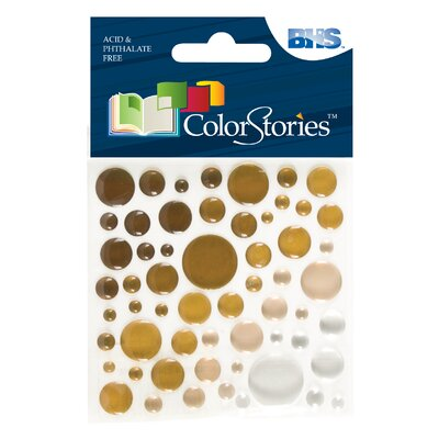 Alvin and Co. Colorstories Epoxy Color Spots Stickers (Set of 50)