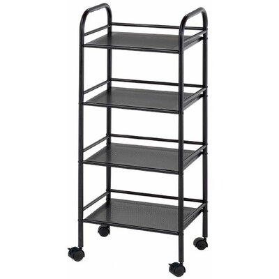 "Alvin and Co. Storage Cart 29.75"" H 4 Shelf Shelving Unit"