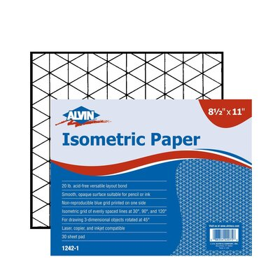 Alvin and Co. Isometric Paper Pad (Set of 30)