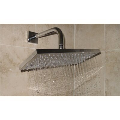"BLVD Products 6"" x 12"" Averse Rectangular Wall or Ceiling Shower Head"
