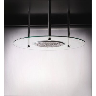"BLVD Products 24"" Domani Round Glass Shower Head"