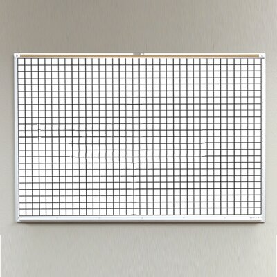 Best-Rite® Porcelain Lifetime Grid Line Board- 4' x 8'