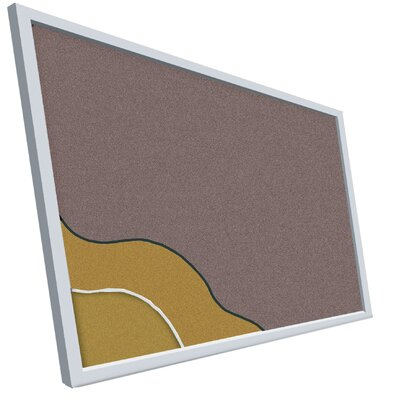 Best-Rite® Vinyl-Covered Cork Plate Tackboard Series 713 - Aluminum Trim