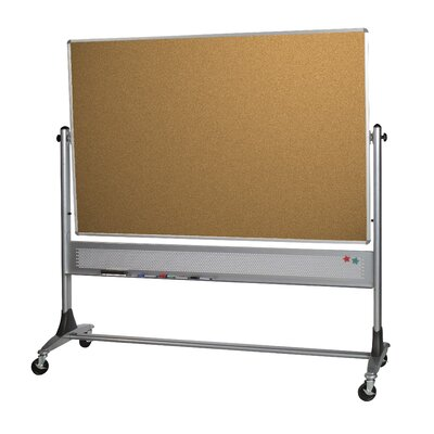 "Best-Rite® Two Sided 3' 4"" x 2' 6"" Bulletin Board"