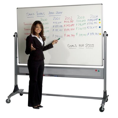 "Best-Rite® Platinum Reversible Dura-Rite Two Sided Markerboard 79"" x 72"" / Without Cork"