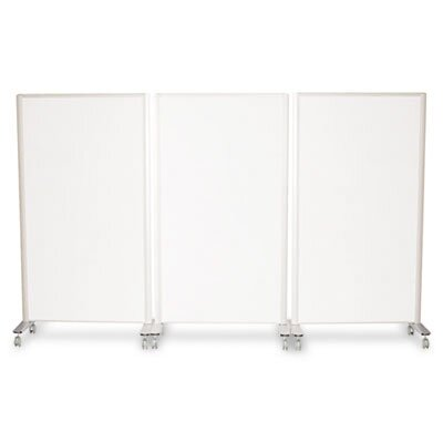 Best-Rite® Lumina Room Dividers, 39-1/2w x 71 3/4h, Aluminum