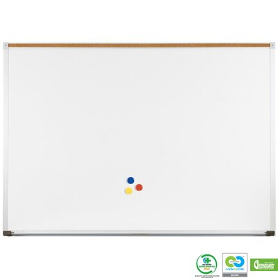 Best-Rite® Green-Rite Porcelain Markerboard with Deluxe Aluminum Trim 2' x 3'