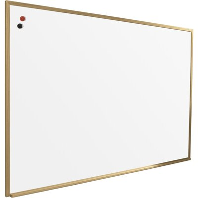 Best-Rite® 4' x 5' Porcelain Steel Markerboard with Solid Wood Trim